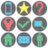 Iconos del sitio web del pixel Imagenes de archivo