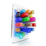 Iconos del software de aplicación que sacan de Imagen de archivo libre de regalías