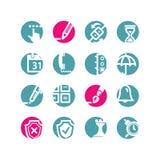 Iconos del software del círculo Stock de ilustración
