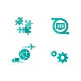 Iconos del software del envío Fotos de archivo libres de regalías