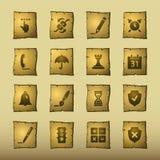 Iconos del software del papiro stock de ilustración