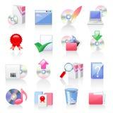 Iconos del software y de la aplicación Imagen de archivo libre de regalías
