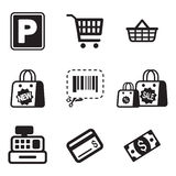 Iconos del supermercado Fotografía de archivo