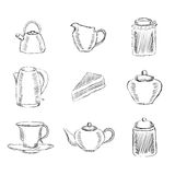 Iconos del té fijados Fotos de archivo libres de regalías