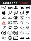 Iconos del tablero de instrumentos Imagenes de archivo