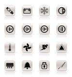Iconos del tablero de instrumentos del coche Fotos de archivo