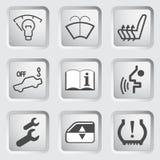 Iconos 4 del tablero de instrumentos del coche Fotos de archivo