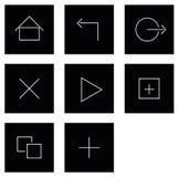 Iconos del tacto de la tableta Imagen de archivo