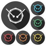 Iconos del tambor ilustración del vector