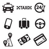Iconos del taxi Imagen de archivo libre de regalías