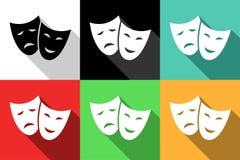 iconos del teatro Imagenes de archivo