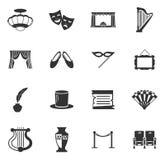 Iconos del teatro fijados Fotos de archivo