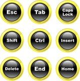 Iconos del teclado Fotografía de archivo libre de regalías