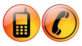 Iconos del teléfono Imagen de archivo libre de regalías