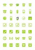 Iconos del teléfono Imágenes de archivo libres de regalías