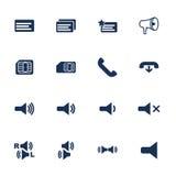 Iconos del teléfono Fotografía de archivo