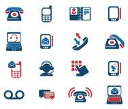 Iconos del teléfono Imagen de archivo