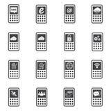 Iconos del teléfono fijados Fotografía de archivo