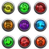 Iconos del teléfono fijados Imagen de archivo