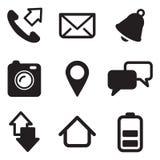 Iconos del teléfono móvil Imágenes de archivo libres de regalías