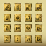 Iconos del teléfono móvil del papiro stock de ilustración