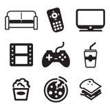 Iconos del teleadicto Fotos de archivo