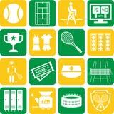 Iconos del tenis Fotos de archivo libres de regalías