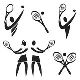 Iconos del tenis Foto de archivo