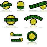 Iconos del tenis stock de ilustración