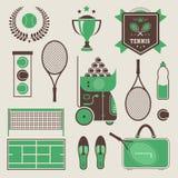 Iconos del tenis del vector Foto de archivo libre de regalías