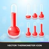 Iconos del termómetro del vector stock de ilustración