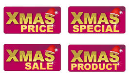 Iconos del texto de Navidad Fotos de archivo libres de regalías