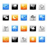 Iconos del tiempo Imagen de archivo libre de regalías