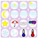 Iconos del tiempo Imagenes de archivo