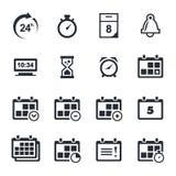 Iconos del tiempo fijados Fotos de archivo libres de regalías
