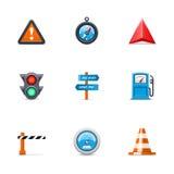Iconos del tráfico Fotografía de archivo libre de regalías