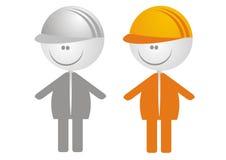 Iconos del trabajador Fotos de archivo