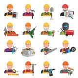 Iconos del trabajador fijados Fotos de archivo libres de regalías