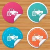Iconos del tractor Transporte agrícola de la industria Fotografía de archivo libre de regalías