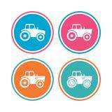 Iconos del tractor Transporte agrícola de la industria Foto de archivo