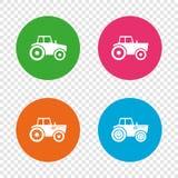 Iconos del tractor Transporte agrícola de la industria Fotografía de archivo