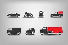 Iconos del transporte Imagen de archivo libre de regalías