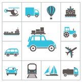 Iconos del transporte Foto de archivo