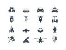 Iconos 2 del transporte Foto de archivo libre de regalías