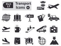 Iconos del transporte Fotos de archivo