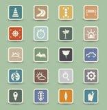 Iconos del transporte stock de ilustración