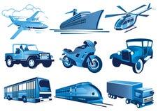 Iconos del transporte Imagen de archivo