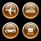 Iconos del transporte  Foto de archivo libre de regalías