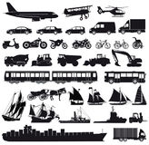 Iconos del transporte Imágenes de archivo libres de regalías