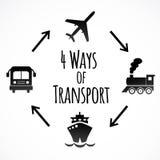 Iconos del transporte aislados en el fondo blanco Imágenes de archivo libres de regalías
